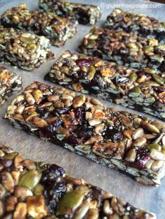 No-Bake Gluten Free Allergen Friendly Energy Bars from Gluten-Free Palate. So easy and inexpensive compared to store bought bars.