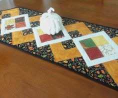 Fall Table Runner Autumn Table Topper by homesewnbychristine
