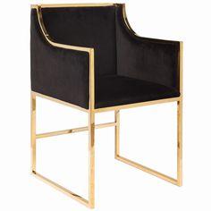 Worlds Away Anabelle Black with Brass Chair #zincdoor