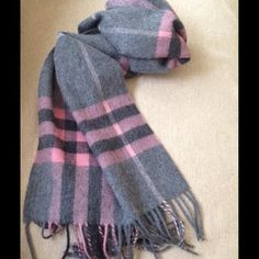 Burberry** NWT 'Giant Check' Cashmere Scarf AUTHENTIC. AMU Giant Icon collection. Women's Giant Check in Antique Blush. 100% cashmere. Made in Scotland. Measures 30x168CM. Never worn, tags attached. Sorry, no Trades. Burberry Accessories Scarves & Wraps