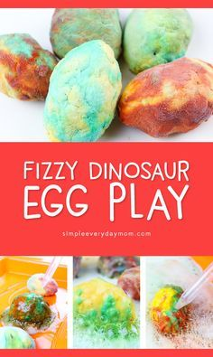 Dinosaur STEM Activity Fizzy Egg Exploratory Play is part of Kids Crafts Preschool Kindergarten - Preschool & kindergarten kids will love this dinosaur stem activity! Let your children uncover their baking soda dinosaur eggs with vinegar & water droppers Dinosaur Theme Preschool, Preschool Science, Preschool Crafts, Preschool Kindergarten, Dinosaur Crafts For Preschoolers, Kids Crafts, Summer Crafts, Stem For Preschoolers, Dinosaurs For Toddlers