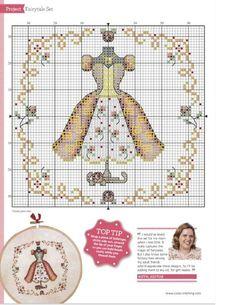 0 point de croix petite robe - cross stitch little dress