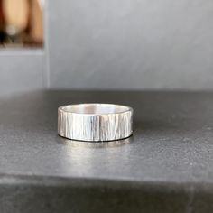 Bettina made this sterling silver ring in a workshop with three of her friends. Loving that hammer textured surface.