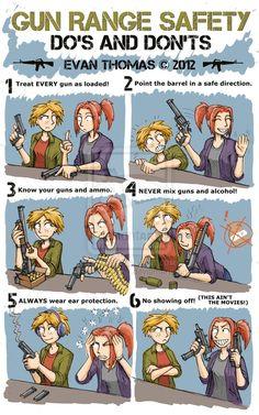 Gun range safety!  Our range has a few more rules though... #gun #safety #shooting