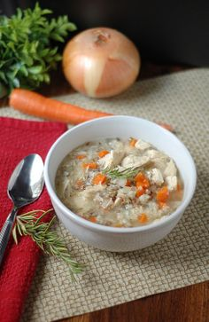 Skinny chicken & wild rice soup in a Crock Pot