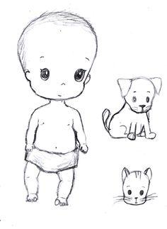 Desenho do Dia #213 - Bebê mais feio do mundo - Soraia Casal