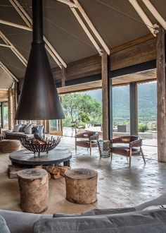 Settlers Drift in South Africa is a luxury tented lodge located in a remote and untouched par Gazebos, Luxury Tents, Kitchen Lighting Fixtures, Luxurious Bedrooms, Outdoor Living, Indoor Outdoor, Outdoor Camping, Modern Bedroom, Architecture