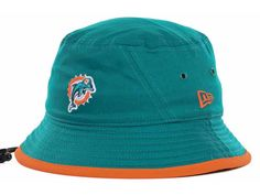 Miami Dolphins New Era NFL Tipped Bucket Hats ff374edf27aa