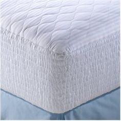 500 Thread Count Mosaic Cotton Mattress Pad with stain-release protection