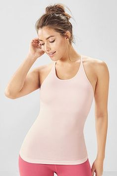 Visit Fabletics for the best selection of women's tank tops for yoga, running and workouts. From breezy to fitted, there's something for every workout and every woman. Demi Lovato Workout, Workout Tank Tops, Complete Outfits, New Outfits, Athletic Tank Tops, Clothes For Women, Trending Outfits, Fitness, Yoga Gym