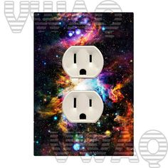 Wall Plug Cover Decal Outlet Cover Galaxy Wall Art Star by VWAQ