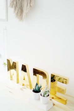 Fall For DIY Gold Letters