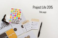 My Project Life Title page