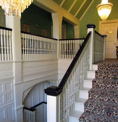 Elm Court - A grand corridor branches off the main hall and leads to principal entertaining rooms and the main stair.