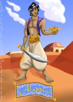 Disney Hunks 2 Aladdin by hollano on DeviantArt Aladdin 1992, Walt Disney Studios, Disney Art, Disney Characters, Fictional Characters, Deviantart, Disney Princess, Warriors, Fantasy Characters