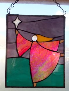 One of my stained glass pieces called 'Star angel' see them on https://www.facebook.com/pages/Rita-Readman-Art/270262966411327