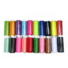 Shinena 24 Assorted Colors Polyester Sewing Thread Spool Set for Arts and Crafts *** You can find out more details at the link of the image.