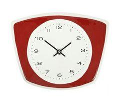 ceramic clock | This red ceramic kitchen clock is another retro design courtesy of the ...