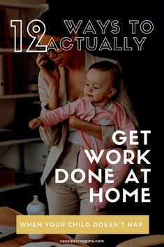 Work from home or really just need to get stuff done? Here are 12 ways you can ACTUALLY get work done at home when your child doesn't nap. How to work at home with kids | work at home | work at home tips | mompreneur tips | time management for moms | productivity for moms | mom hacks | work at home mom | working mom | remote work | make money from home | #cassiescrooggins #workathome #remotework #timemanagement Work From Home Moms, Make Money From Home, Make Blog, How To Start A Blog, Office Hacks, Mom Planner, Mom Schedule, Kids Work, Every Mom Needs