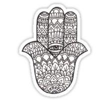 Hamsa Hand: Black/White Sticker