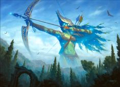 Magic the Gathering, Gods of Theros: Nylea, God of the Hunt, by Chris Rahn