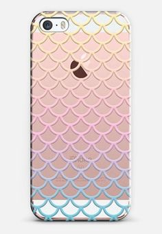 Pastel Mermaid Scales Transparent iPhone SE case by Organic Saturation   Casetify #iphonese,