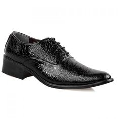 Stylish Lichee Pattern and Lace-Up Design Men's Formal Shoes #CLICK! #clothing, #shoes, #jewelry, #women, #men, #hats, #watches