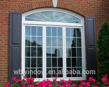 Arco moderno janelas e janelas de batente de design da grade, Grande lateral de vidro pendurado opeing windows, Upvc casement grill arco windows