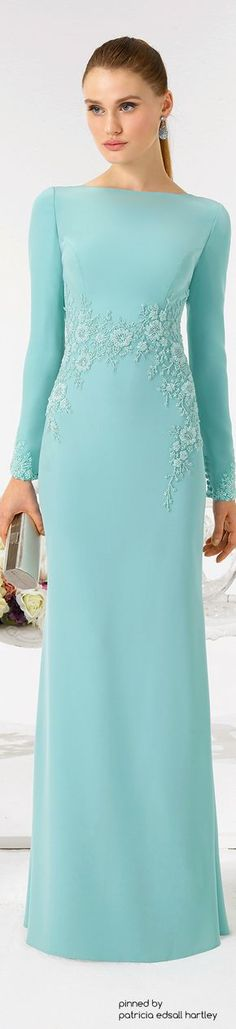 cyan maxi dress women fashion outfit clothing style apparel @roressclothes closet ideas ...