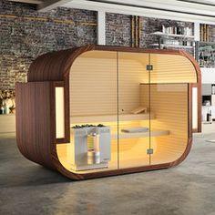 Freistehende Sauna in Loft - Küng Bio-Sauna Swing Spa Design, Bath Design, Bio Sauna, Indoor Sauna, Architecture Design, Innovation, Folding Walls, Steam Generator, Jacuzzi Outdoor
