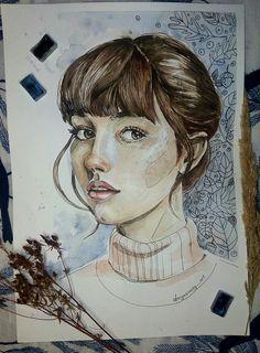 #daryasnoopy_art #girl #art #watercolor #artist #drawing #painting