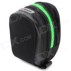 Acacia 0411301 Cycling Waterproof 600D Oxford Bike Saddle Bag w/ Warning Light - Black   Green Price: $16.24