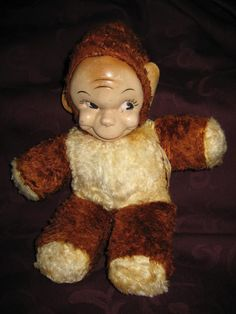 Gund Monki Monkey Stuffed Plush Animal FigureToy Doll by neetiques, $29.00