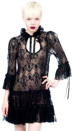 Lip Service Blacklist ¾ Sleeve Babydoll Dress. This dress is super cute. i think I could rock this. <3