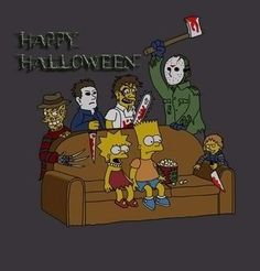 The Simpsons Cartoon Tv, Cartoon Characters, Simpson Tv, October Art, Graffiti Cartoons, Simpsons Art, Famous Cartoons, Horror Icons, Halloween Horror