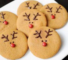 Galletas de Navidad de reno | Mujer al natural