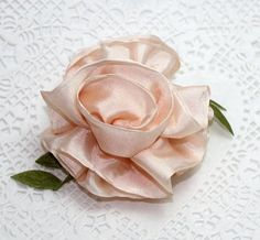 Silk Ribbon Rose