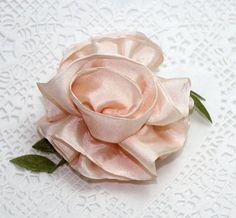 Silk Ribbon Rose