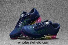 Nike Air Max 2018.5 KPU Dark Blue Rainbow Sole Women Men Nike Air Max Running, Nike Max, Cheap Nike Air Max, New Nike Air, Nike Air Vapormax, Running Shoes For Men, Running Women, Nike Outlet, Discount Shoes
