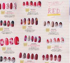 red nail designs