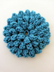 free crochet pattern textured popcorn stitch flower