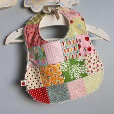 patchwork bib no. 2 | i love these patchwork bibs, using fav… | Flickr