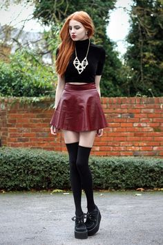 Not sure I'd wear the red pleather skirt, but exchange it for a red velvet one then sure.