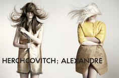 Faibana Mayer and Thairine Garcia doing Herchcovitch; Alexandre winter campaign    From: http://ffw.com.br/noticias/gente/conheca-thairine-garcia-a-new-face-de-14-anos-que-e-a-aposta-dos-editores-nacionais/