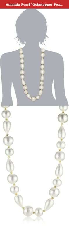 """Amanda Pearl """"Gobstopper Pearl"""" 40"""" Mixed Ivory Necklace. Introduce the natural sheen of a classic pearl to a unique, trend-setting style when wearing the Amanda Pearl """"Gobstopper Pearl"""" 40"""" Mixed Ivory Necklace. Putting on this grand yet classic piece makes a statement about your passion for timeless style and desire to be trend savvy. This long and sleek necklace gives you the ability to pair your favorite classic accessories, like pearl studs or simple gold bracelets, with new, modern..."""