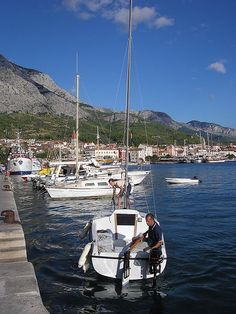 Makarska Places Around The World, Around The Worlds, Places To See, Places Ive Been, Makarska Croatia, Sail Away, Sailing, Wonderland, Boat