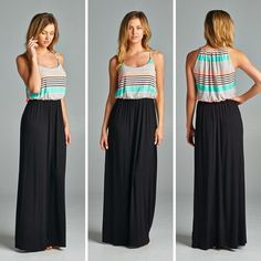 POPULAR RESTOCK!   We just got in more of our Fun in Stripes Maxi Dresses.  $38 with free ship Comes in S-M-L.  Comment with email and state to order or head to our website.  Limited Stock remaining after pre-orders are mailed out! S fits 2-4 to 4-6  M fits 6-8 to 8-10  L fits 10-12 to 12-14