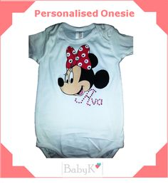 BabyK Personalised Onesie for your little girl! Cute Little Baby, Little Babies, Little Girls, Onesie, Custom Made, Mens Tops, Kids, Color, Outfits