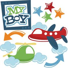 My Boy SVG file for cutting machines airplane svg file helicopter svg boy svg file boy svg cuts free svgs Scrapbook Titles, Baby Scrapbook, Scrapbook Cards, Silhouette Images, Silhouette Portrait, Vinyl Crafts, Svg Cuts, Clipart, Cricut
