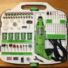 How to use a rotary tool- Helpful descriptions of uses for all the bits, wheels, brushes, and stones